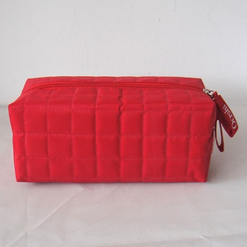 quited cosmetic bag